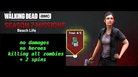 Best strategy for TWD NML S7 E6-Beach life-(Killing all zombies, no damages, no heroes)+ 2 spins