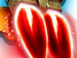 Traînée de jetpack rouge