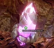 Formation mineral enterrée