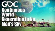 No Man's Skyにおける継続的な世界生成
