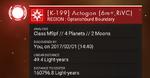 K-199 Actogon (6m+,RiVC)