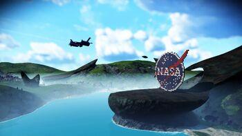 Galactic Hub NASA Monument