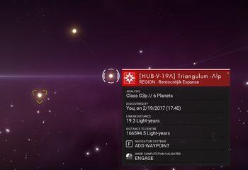 HUB-V-19A Triangulum Alpha