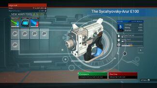 The Sycahyovsky-Arur E100