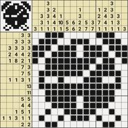 Black-and-White Nonograms, 15x15, Alarm