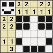 Black-and-White Nonograms, 5x5, Smile