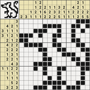 Black-and-White Nonograms, 15x15, Mouse
