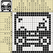 Black-and-White Nonograms, 20x20, Bus