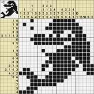 Black-and-White Nonograms, 20x20, Dolphin