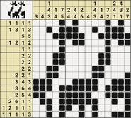 Black-and-White Nonograms, 15x15, Savanna