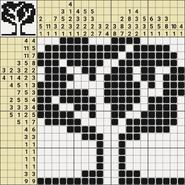 Black-and-White Nonograms, 20x20, Tree