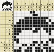 Black-and-White Nonograms, 15x15, Dolphin