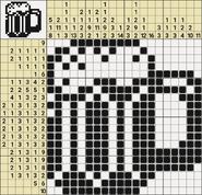 Black-and-White Nonograms, 20x20, Mug