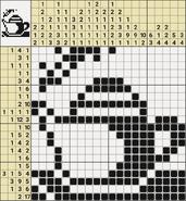 Black-and-White Nonograms, 20x20, Teapot