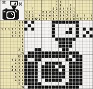 Black-and-White Nonograms, 20x20, Camera