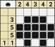 Black-and-White Nonograms, 5x5, Car