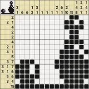 Black-and-White Nonograms, 15x15, Skittles