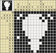 Black-and-White Nonograms, 15x15, Lamp
