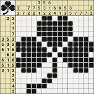 Black-and-White Nonograms, 15x15, Clover