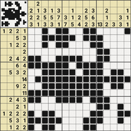 Black-and-White Nonograms, 15x15, Turtle