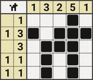 Black-and-White Nonograms, 5x5, Dog