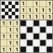 Black-and-White Nonograms, 5x5, Chess
