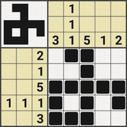 Black-and-White Nonograms, 5x5, Rune