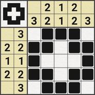 Black-and-White Nonograms, 5x5, Cross