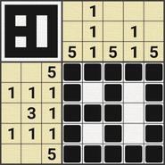 Black-and-White Nonograms, 5x5, Window