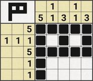 Black-and-White Nonograms, 5x5, Flag