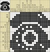 Black-and-White Nonograms, 20x20, Phone
