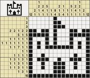 Black-and-White Nonograms, 15x15, Castle