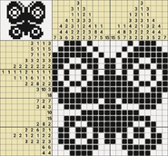 Black-and-White Nonograms, 20x20, Butterfly