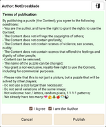 Terms of publication