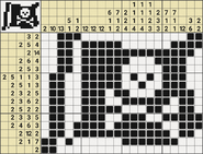 Black-and-White Nonograms, 15-20, Jolly Roger