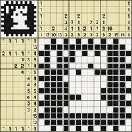 Black-and-White Nonograms, 15x15, Stamp