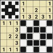 Black-and-White Nonograms, 5x5, Snowflake