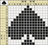 Black-and-White Nonograms, 15x15, Spades