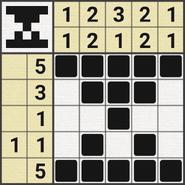 Black-and-White Nonograms, 5x5, Hourglass