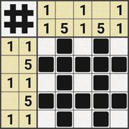 Black-and-White Nonograms, 5x5, Sharp