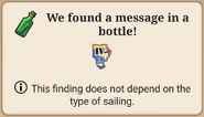 Ship - Message in a bottle