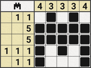 Black-and-White Nonograms, 5x5, Bat