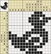 Black-and-White Nonograms, 15x15, Duck