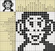 Black-and-White Nonograms, 20x20, Monkey