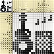 Black-and-White Nonograms, 20x20, Guitar
