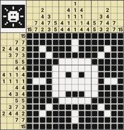 Black-and-White Nonograms, 15x15, Sun