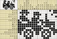 Black-and-White Nonograms, 15-20, Jeep