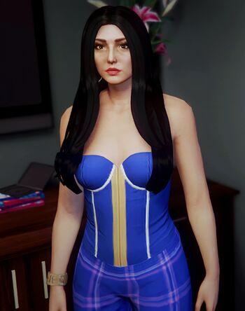 Blue Pantsuit
