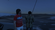 Roflgator Feb 6th 2021 4 Robert fishing with Peebus