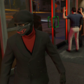 Ray first bank heist outfit